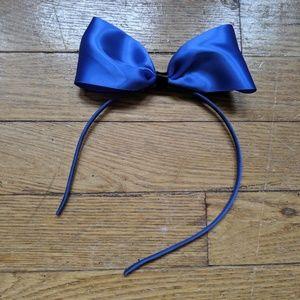 Blue Bow Headband Hand Made